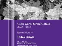 Programa de mà Cloenda Cicle Coral Orfeó Català