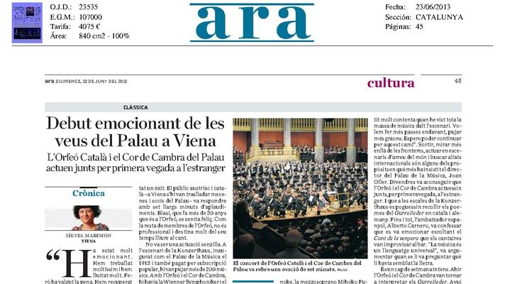 The exciting debut voices of the Palau in Vienna