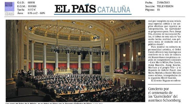 Los coros del Palau de la Música vibran en su histórico debut en Viena