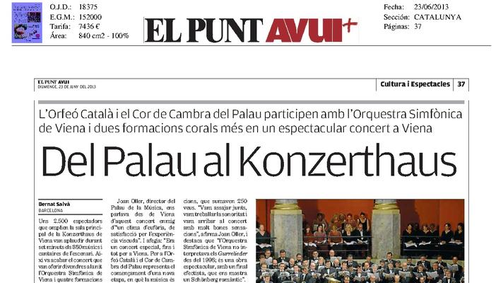 From the Palau to the Konzerthaus