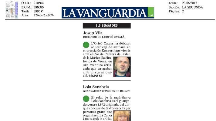 Semáforo verde: Josep Vila, director del Orfeó Català