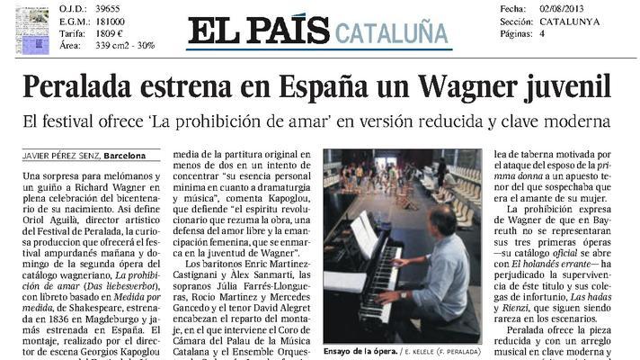 Peralada estrena a Espanya un Wagner jovenil