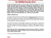 Bases Concurs de Disseny El Primer Palau 2014