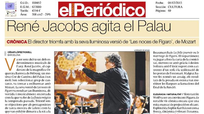 René Jacobs agita el Palau