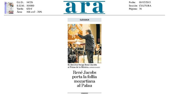 René Jacobs lleva la locura mozartiana el Palau