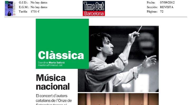 The Orfeo Català participates in the Concert de la Diada
