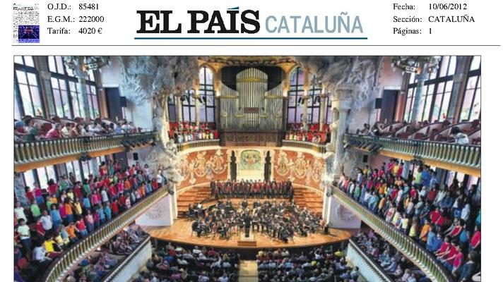 More than 800 children from 29 corals in the Palau de la Música in the final project Choirs of Ciutat Vella