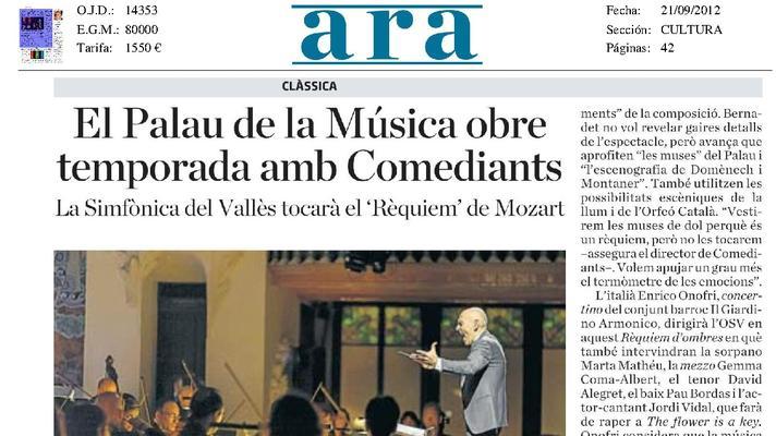 El Palau de la Música obre temporada amb Comediants