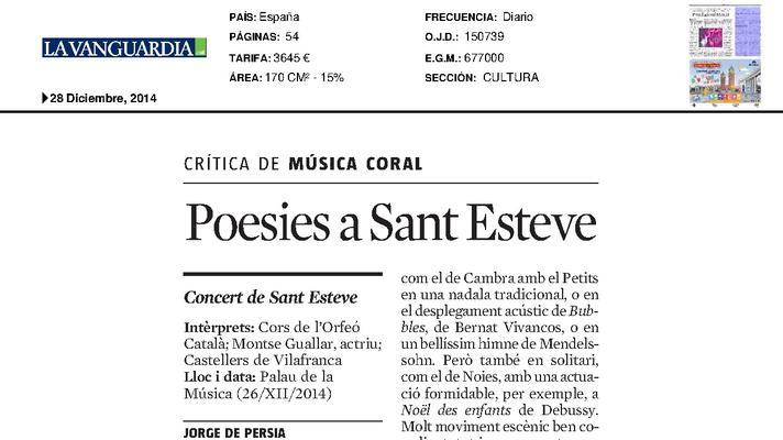 Poems on Sant Esteve