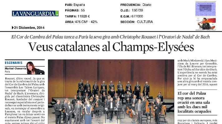 Catalan voices at the Champs-Elysées