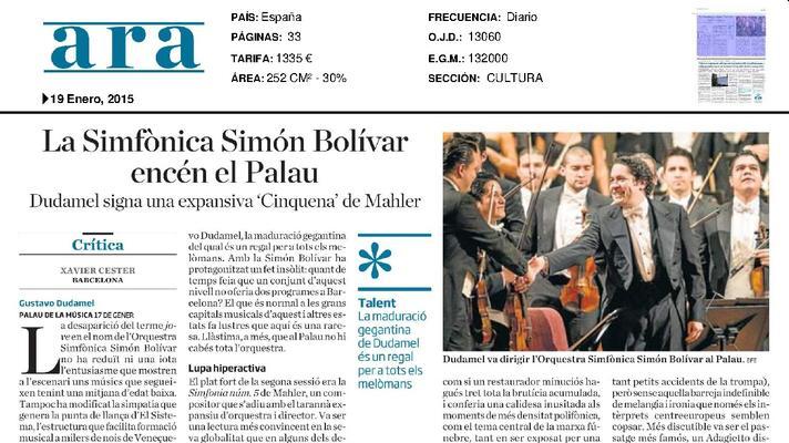 La Sinfónica Simón Bolivar enciende el Palau