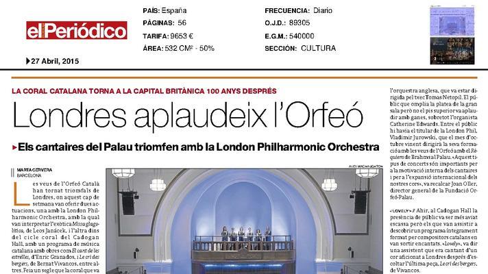 Londres aplaudeix l'Orfeó