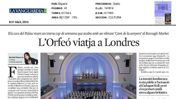 El Orfeó viaja a Londres