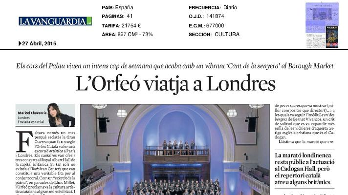 L'Orfeó viatja a Londres