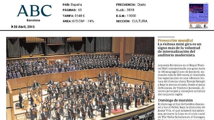 El Orfeó Català triunfa en Londres