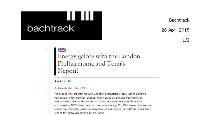 Energy galore with the London Philharmonic and Tomas Netopil