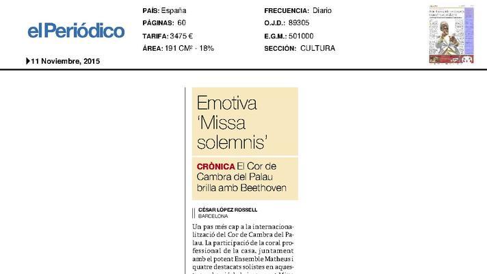 Emotiva 'Missa solemnis'