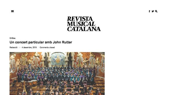 A special concert with John Rutter