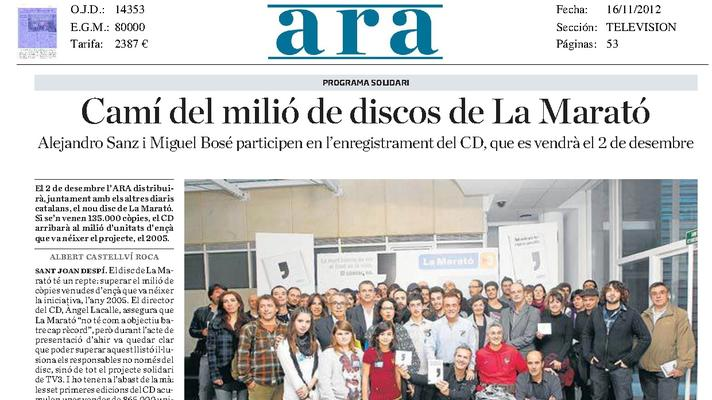 The Orfeó Català participates in the disc of the TV3 Marathon