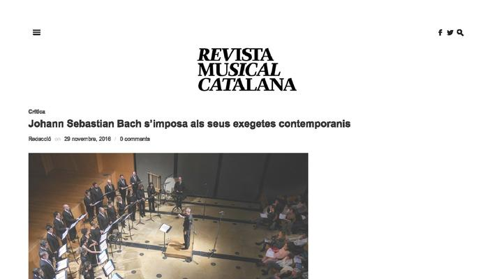 Johann Sebastian Bach s'imposa als seus exegetes contemporanis