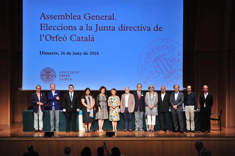 Nova Junta Orfeó Català