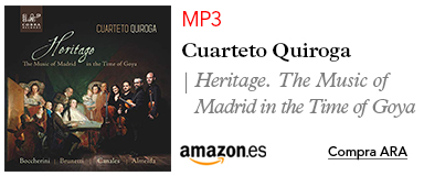 Amazon Cuarteto Quiroga-MP3 Heritage, The Music of Madrid in the Time of Goya