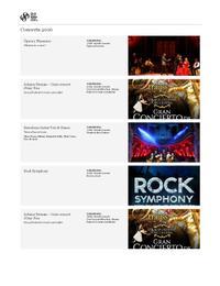 2016 - Llistat de Concerts