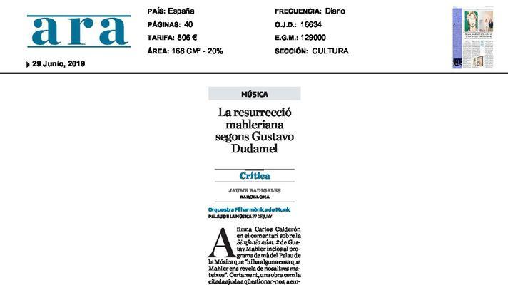 La resurrecció mahleriana segons Gustavo Dudamel