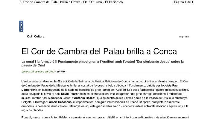 El Cor de Cambra brilla en Cuenca