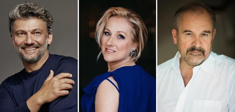 KAUFMANN, Jonas (©Gregor Hohenberg-Sony Classical), DAMRAU, Diana (©Jiyang Chen), DEUTSCH, Helmut (©Shirley Suarez)
