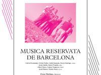 Programa de mà Musica Reservata de Barcelona