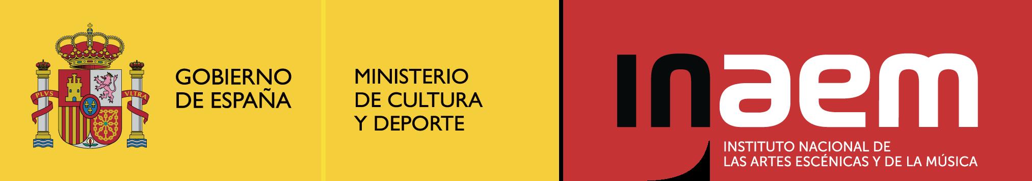 Logo per programes color - Ministerio de Cultura y deporte - Inaem