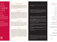 Convocatoria y Bases El Primer Palau 2013